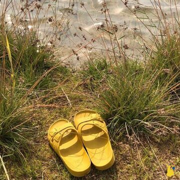 Simple life 🌊☀️💛 📸 @yumaya.lb  . . . . #mycacatoes #frombrazilwithlove #picoftheday #summer #beachlife #sandals #instagood #fun #fashion #style #beachwear #summeroutfit #flipflops #holidays #instamood #happyfeet #summervibes #footprints #candyscented #riodejaneiro